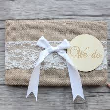 vintage wedding guest book rustic wedding guest book we do burlap wedding guest book
