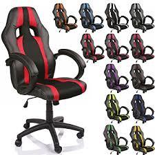fauteuil de bureau noir tresko chaise fauteuil siège de bureau racing sport é