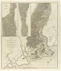 Savannah Ga Map Rare Plan Of Archibald Campbell U0027s Georgia Campaign Of 1778 Rare