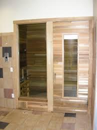sauna glass doors dulley column color graphics