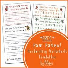 life as a moore paw patrol to the rescue letter worksheets