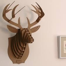deer head deer head wall mount diy model 3d puzzle cardboard animal decor