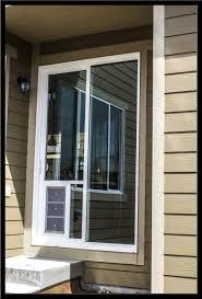 installation of sliding glass doors doggy door in glass door
