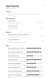 Engineering Technician Resume Sample by Lead Technician Resume Samples Visualcv Resume Samples Database