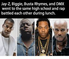 Dmx Meme - jay z biggie busta rhymes and dmx went to the same high school and