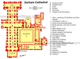 Cathedral Floor Plan Romanesque Architecture England Site Plan Durham Cathedral