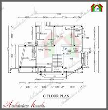 1800 Square Feet architecture kerala 1800 sq ft house plan with detail dimensions