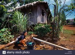 mindanao philippines house u0026 water pump washing up stock photo