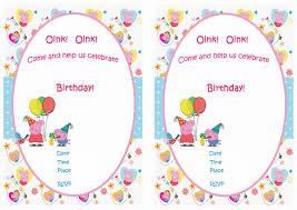 peppa pig birthday invitations u2013 birthday printable