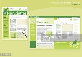 company business green newsletter design flyer template vector art