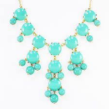 turquoise gold chain necklace images Turquoise bubble necklace bold statement necklace with gold chain jpg