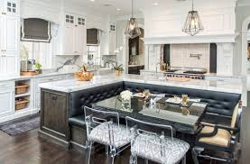 marble kitchen island luxury marble kitchen with l shaped island with built in leather