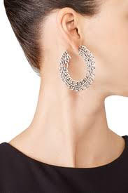 dannijo earrings hawk hoop earrings by dannijo for 35 rent the runway