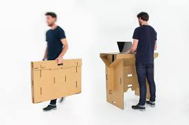 small stand up desk a portable flexible and affordable cardboard standing desk design