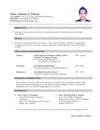 Engineering Student Sample Resume Sample Resume For Ojt Architecture Student Civil Engineering