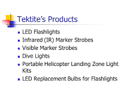 tektite industries inc manufacturer of led flashlights infrared