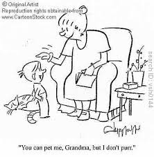 cartoon image of a grandma and her grandaughter