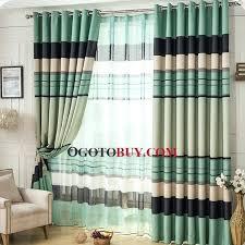 Blue And White Striped Drapes Living Room Curtains Next Home Decorating Interior Design Bath