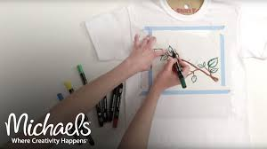 fabric markers and paint pens diy apparel michaels youtube