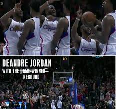 Deandre Jordan Meme - chris paul goes crazy as deandre jordan stands with the ball