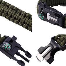 survival paracord bracelet kit images Men 39 s paracord survival bracelet kits 550 parachute cord wristband jpg