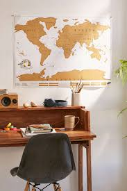 Personalised World Map Pinboard by Gold Scratch Off World Map Urban Room And Apartments
