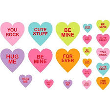 valentines day candy hearts amscan blushing s day candy hearts printed