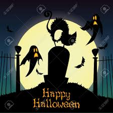 halloween background free clipart abstract cat and ghosts silhouette on special halloween background