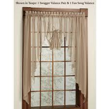 Diy Kitchen Curtain Emelia Sheer Swag Valances And Window Treatments