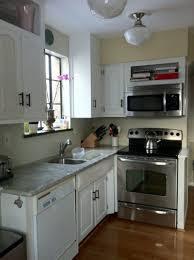 kitchen corner cabinet organization ideas blue gray yellow