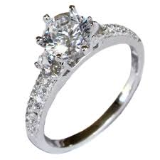 promise ring solitaire diamond promise ring white cubic zirconia beautiful