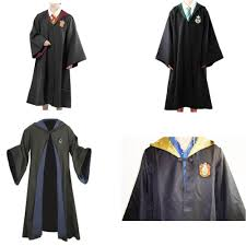 wizard costume wand harry potter cloak robe wand scarf gryffindor slytherin hufflepuff
