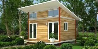 perfect slanting roofing wooden small houses with double glass