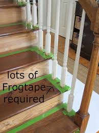 How To Refinish A Banister Diy How To Stain And Paint An Oak Banister Spindles And Newel