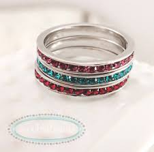 stacking name rings sterling silver stackable name birthstone rings woobie beans
