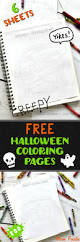 free halloween character coloring pages 6 printable sheets