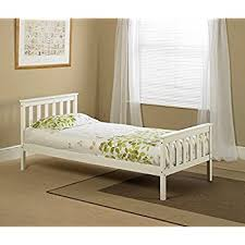 white wooden single bed frame amazon co uk kitchen u0026 home