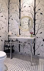 Powder Room Flooring Always On Trend 20 Powder Rooms In Black And White