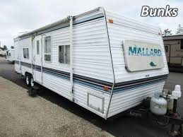 fleetwood travel trailer floor plans terry http haylettrv com 1999 mallard 29rs used bunkhouse travel trailer by