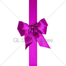 purple ribbons square composition with purple ribbons and a bow gl stock images
