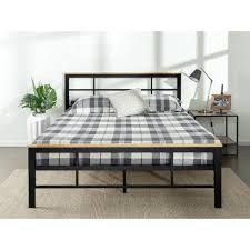 zinus urban metal and wood black king platform bed frame hd hbpbc