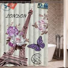 paris beautiful eiffel tower with butterfly flowes shower