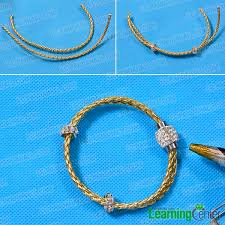 cord bracelet with beads images Pandahall tutorial on how to make leather cord bracelet with jpg