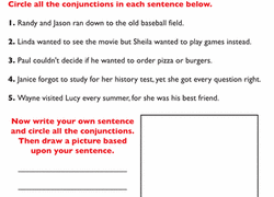coordinating and subordinating conjunctions worksheets education com