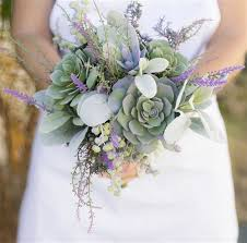 succulent bouquet fresh succulent and lavender fillers wedding real touch silk bouquet