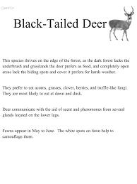 black tailed deer deer habitat science natural science