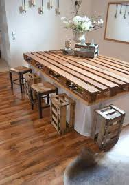 Diy Kitchen Island Pallet Here U0027s A New Idea Make Your Own Bar Or Kitchen Table Out Of