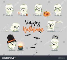 happy halloween set cute cartoon halloween stock vector 466298336