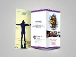 download design template for church bulletin religious brochure