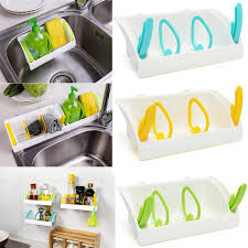 Suction Sponge Holder Sink by Sink Sponge Tub Suction Rack Cup Holder Storage Basket Organizer